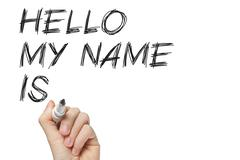 Hello my name is Stock Photos