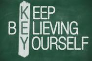 Stock Illustration of keep believing yourself