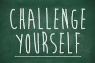 Stock Illustration of challenge yourself phrase