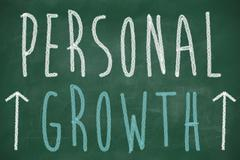 personal growth phrase handwritten - stock illustration