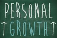 Stock Illustration of personal growth phrase handwritten