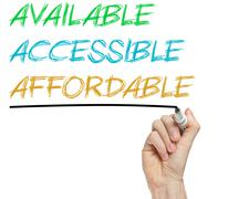 aaa for available, accessible and affordable - stock photo