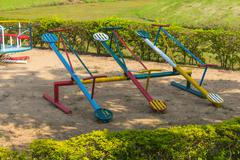 Colorful playground in the park Stock Photos
