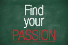 Stock Illustration of find your passion phrase