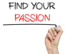 find your passion phrase - stock photo