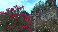 Berlin Cathedral ,Berliner Dom with tourists visiting and walking around Stock Footage