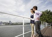 Stock Photo of Couple viewing scenery