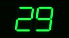 Digital countdown Stock Footage