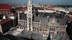 New City Hall, Marienplatz, Munich, Bavaria, Germany Stock Footage