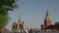 Moscow Kremlin Red Square Moscow river embankment and vicinities 29.MTS - stock footage