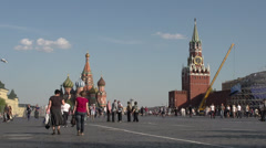 Moscow Kremlin Red Square Moscow river embankment and vicinities 24 Stock Footage