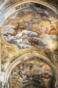 cathedral of asti, interior - stock photo