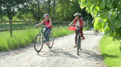 Stock Video Footage of Hispanic Family On Cycle Ride In Countryside