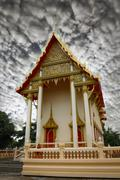 buddism temple - public location in thailand - stock photo