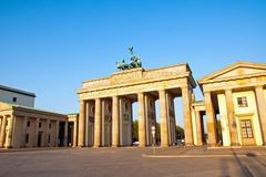 Brandenburg Gate in the morning Stock Photos