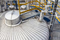 insulation of tank storage - stock photo