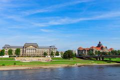 On the banks of river Elbe - stock photo