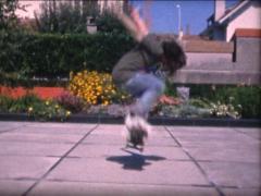 SUPER8 skateboard learning 4 - 2009 Stock Footage