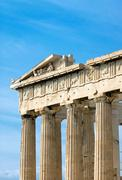 Part of the Parthenon in Athen Stock Photos