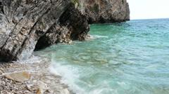 Coast of the island of St.. Nicholas, Budva Stock Footage