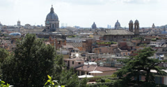 Ultra HD 4K Aerial View Rome Skyline, Italy italian, famous, architecture Stock Footage