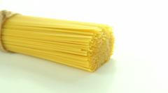 Spaghetti macaroni dolly-shot Stock Footage