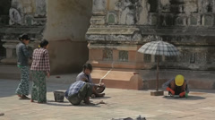 Restoration of ancient Ananda Temple Stock Footage