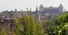 Ultra HD 4K Aerial View Rome Cityscape, iconic, roma, centre, central, old Stock Footage
