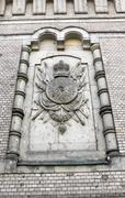 heraldic relief - stock photo