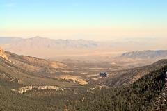 Canyon receding into desert Stock Photos
