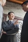 Businessmen Talking - stock photo