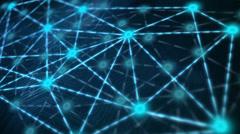 Network Matrix Glow Stock Footage