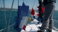 Stock Video Footage of Extreme windy day for sailing shot from onboard