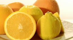 Citrus fruits Stock Footage