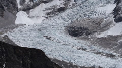 Khumbu Icefall Seen from Kala Patthar Stock Footage