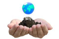 Abstrakti maapallo hehkulamppu, suojella maailman pelastaa maapallon Kuvituskuvat