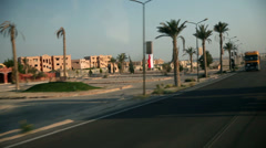 Passing by the tourist spot in Egypt Stock Footage