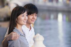 Close Up of Couple by the Lake Stock Photos
