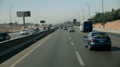 Traveling on highway in Egypt Stock Footage