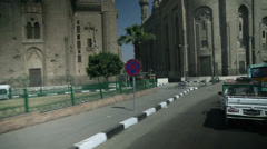 Traveling through city in Kairo Stock Footage