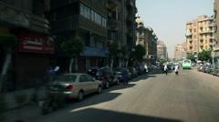 Traffic kaos in city of Kairo Stock Footage