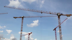 Construction cranes Stock Footage