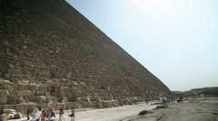 Visiting pyramid in Egypt Stock Footage