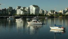 False Creek Anchorage, Vancouver Condos Stock Footage