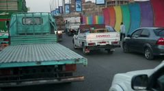Traffic jam in Kairo Stock Footage