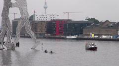 Molecule Man is a series of aluminium sculptures, in Berlin Stock Footage
