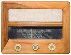 Vintage radio cutout Stock Photos