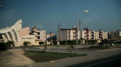 Apartment buildings in deserted place Stock Footage