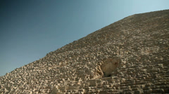 Close up of pyramid from below Stock Footage