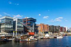 View of the Hafencity in Hamburg Stock Photos